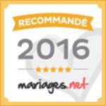 logo recommandé par mariages.net 2016